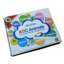 美国三叔:跟着动物能学ABC(动物字母卡片)