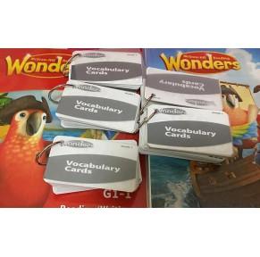 加州教材Reading Wonders G1-6单词点读卡