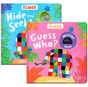 Elmer花格子大象2本(纸板书 )