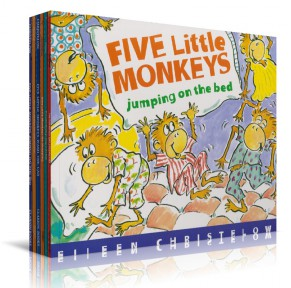 五只小猴子 Five Little Monkeys 9本点读版