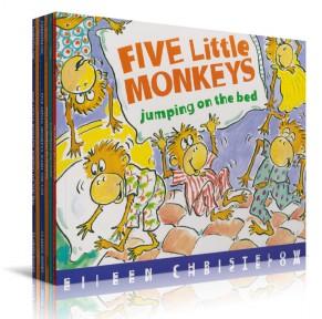 五只小猴子 Five Little Monkeys 9本点读版