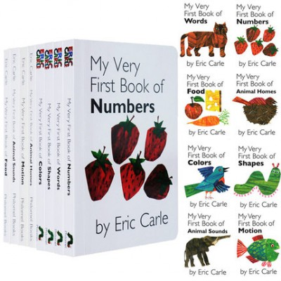 Eric Carle卡尔My Very First Library 8册纸板书点读版
