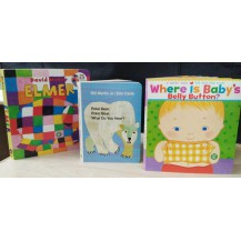 启蒙纸板书:花格子大象、polar bear、baby3册