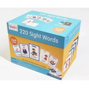 [点读]sight words 220个高频单词卡(赠练习册礼盒套装)