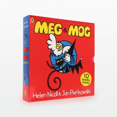 麦格女巫和莫格小猫Meg Mog 10册点读版