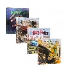 哈利波特Harry Potter彩绘插画精装4册英文版