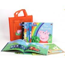 【点读版】粉红猪小妹Peppa Orange Bag 粉猪橙袋10册套装