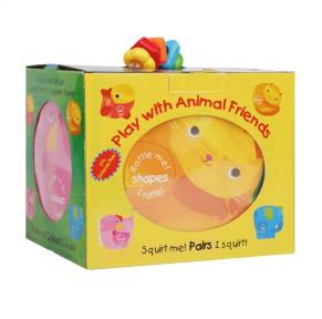 [特惠]【点读版】和动物一起玩吧  洗澡书 5册 (盒装)
