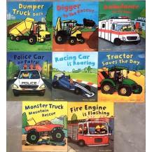 busy wheels忙碌的车轮子8册点读版
