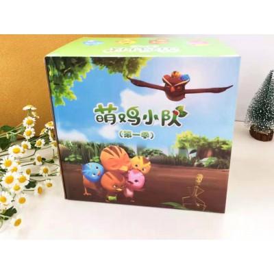 萌鸡小队英文版第一季52集双语点读礼盒版