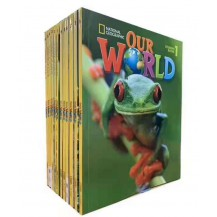 6.18特价:美国国家地理教材Our World14册点读版