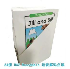 RAZ自然拼读系列:raz Decodable Books 64本 phonics