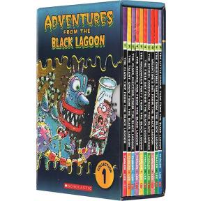章节书:黑潭小学历险记Black Lagoon Collection 1盒装10册